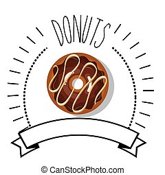 doce, chocolate, donut
