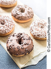 doce, chocolate, donuts