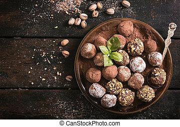 doce, chocolate, tempo
