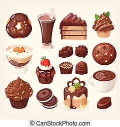 doce, chocolate, trata, sobremesa