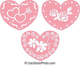 doce, desenho, coração
