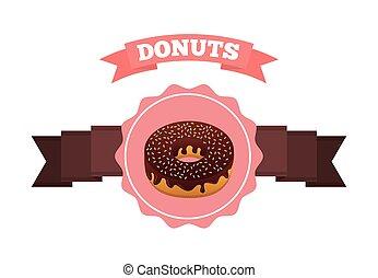 doce, desenho, donuts