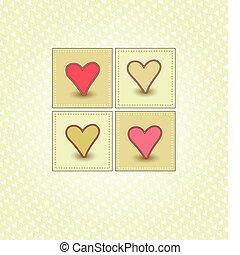 doce, dia, cartão, valentine