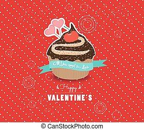 doce, feliz, dia dos namorados, cupcake