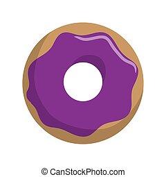 doce, isolado, donuts, ícone