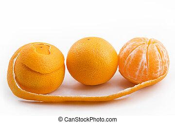 doce, maduro, tangerines