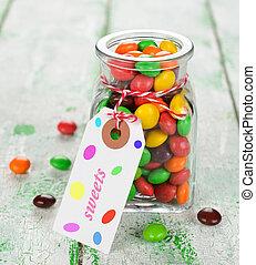 doce, multi-colorido
