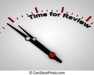doce, revisión, reloj, una vez, minuto, antes