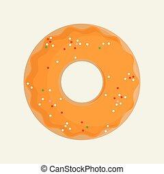 doce, vetorial, donuts
