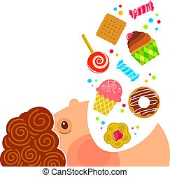 doces, comer