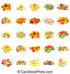 doces, seamless, padrão