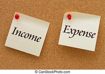 dochód, przeciw, wydatek