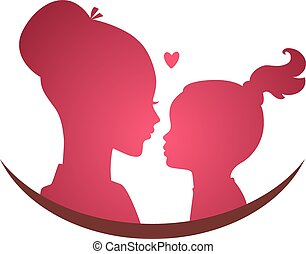 dochter, liefde, mamma
