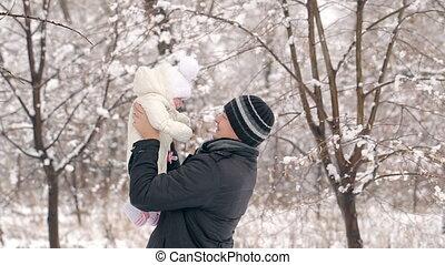dochter, vader, winter