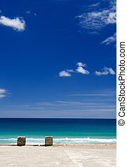 dock and blue sky - It is a dock with beautiful blue sky.