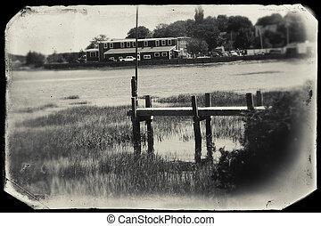 Dock at Wellfleet, MA on Cape Cod