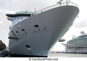 dock, croisière bateau
