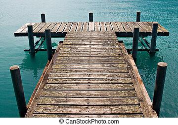 Dock - Empty dock in calm lake
