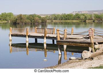 Fishing dock at Confluence Park in Delta, Colorado