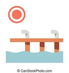 Dock flat illustration