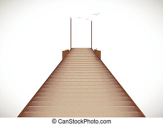 Dock Illustration - Illustration of a dock isolated on a...