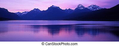 Dock, Lake McDonald - Photo of a dock at Lake McDonald,...