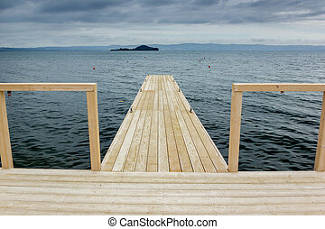 Dock on lake