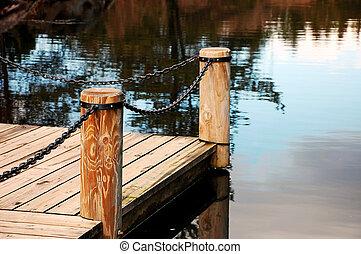 Dock on pond