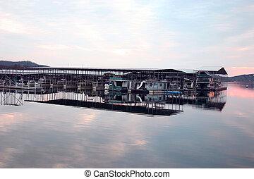Docked boats @ dusk
