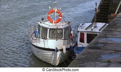 Docked small boats