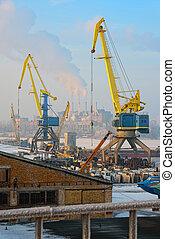 Docks and cranes