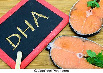 docosacexaenoic, pez, dha, ácido, marina, o