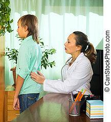 docteur, adolescent, patient