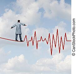 docteur, diagnostic, danger