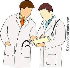 docteur, et, docteur, consultant