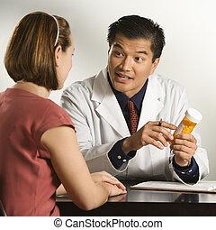 docteur, et, patient.