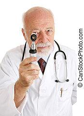 docteur, -, examen minutieux