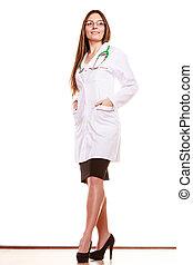 docteur femme, santé médicale, soin, stethoscope.