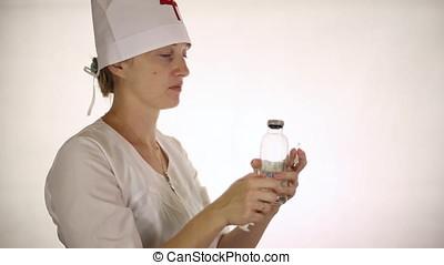 docteur, gagner, dans, a, seringue, médicament
