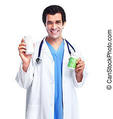 docteur médical, à, les, hospital.