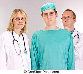 docteur médical, équipe