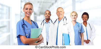 docteur médical, jeune, woman.