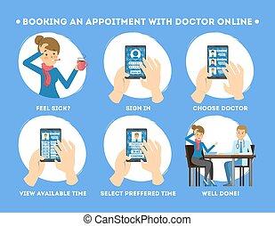 docteur, mobile, obtenir, consultation téléphone, comment, utilisation
