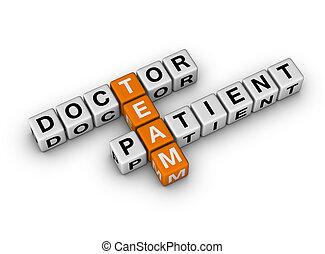 docteur, patient, équipe