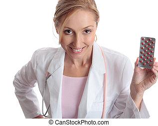docteur, pharmaceutique, médicament