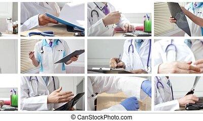 docteur, situations, différent, monde médical