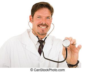 docteur, soucier, amical