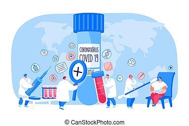 docteur, vecteur, essai, échantillonnage, covid19, ...