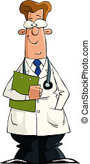 Doctor - A doctor on a white background, vector illustration