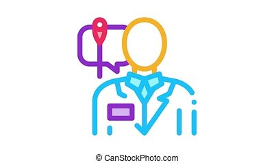 doctor acupuncture specialist Icon Animation